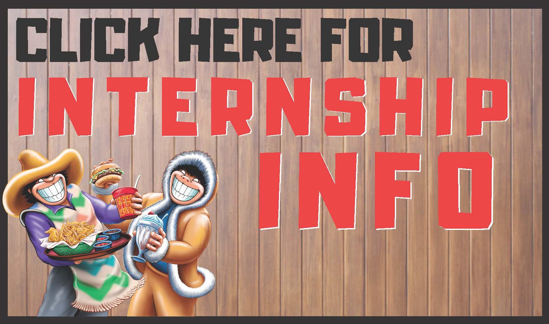 Internship website button